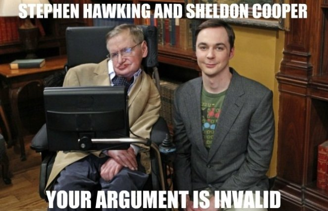 Stephen Hawking and Sheldon Cooper