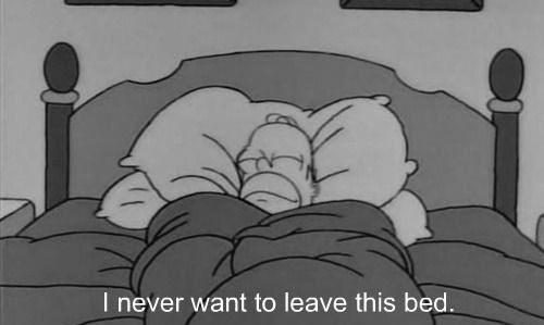 I Never Want To Leave This Bed