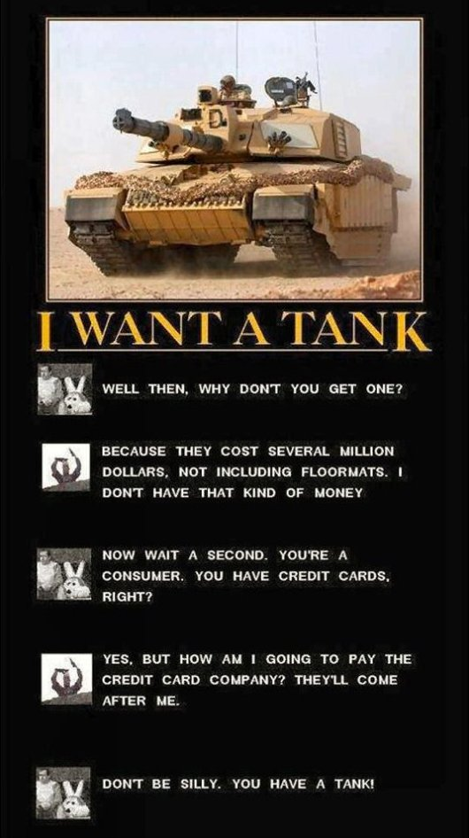 If You Want a Tank