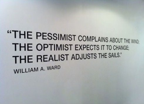 The Pessimist, The Optimist and The Realist