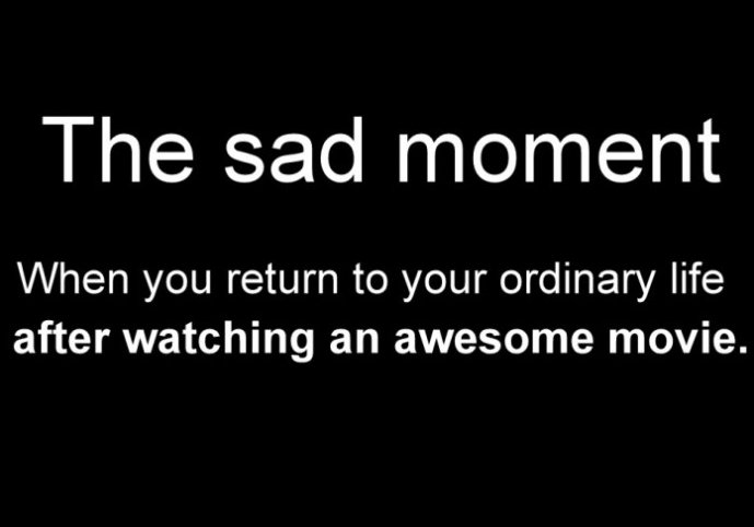 The Sad Moment…