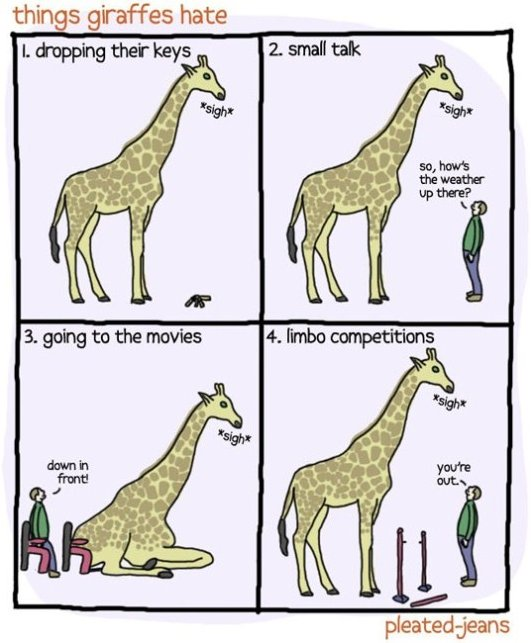Things Giraffes Hate