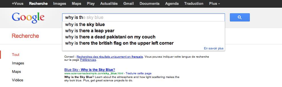 Strange Google Search