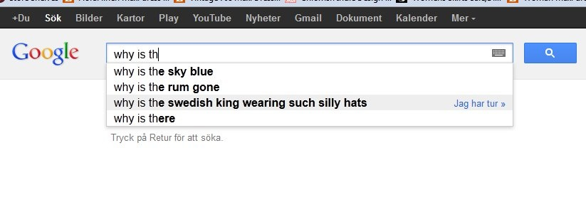Google Search Swedish King