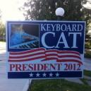 Keyboard Cat For President 2012!