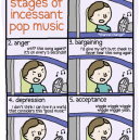 The Five Stages of Incessant Pop Music