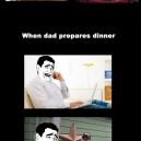 Preparing Dinner – Mom vs. Dad