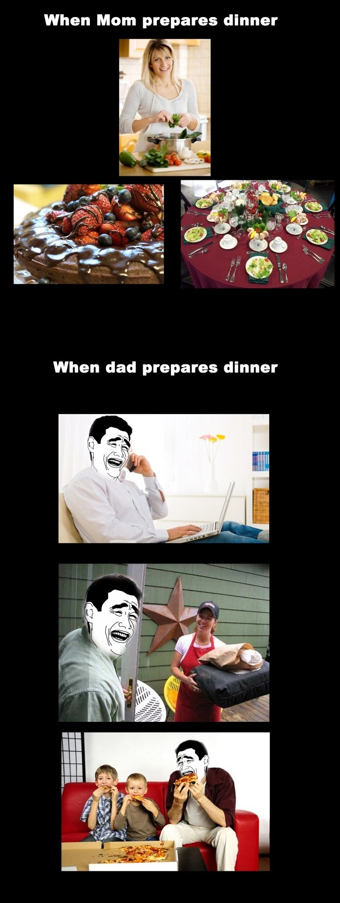 Preparing Dinner – Mom vs. Dad