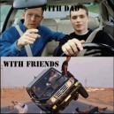 Driving With Dad vs. Friends