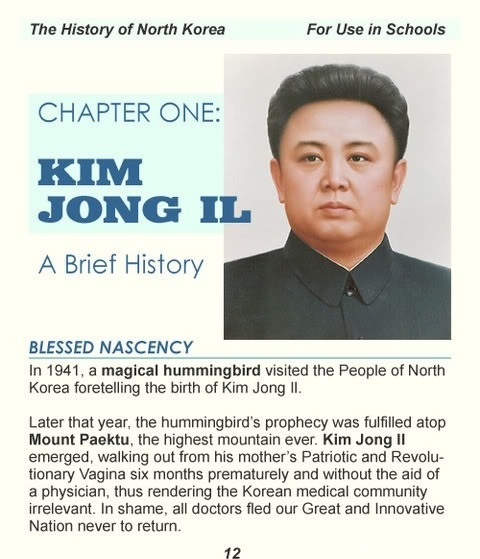 Found in a North Korean History textbook