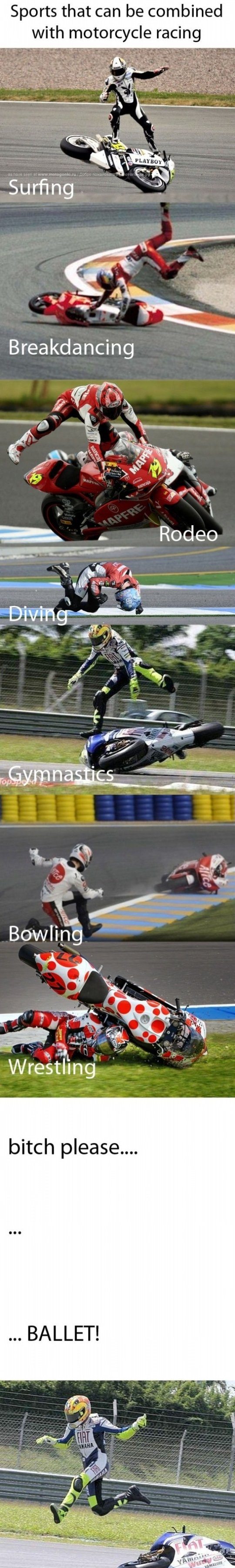 Sports that can be combined with motorcycle racing