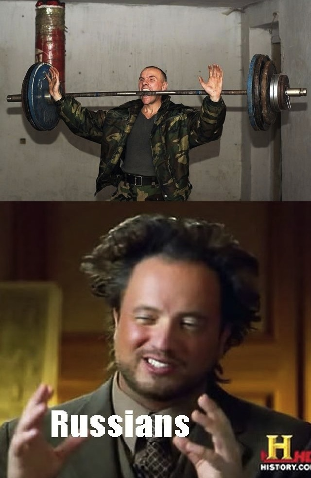 Russians Lifting Weights With Their Teeth and Stuff
