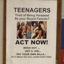 Teenagers! Act Now!