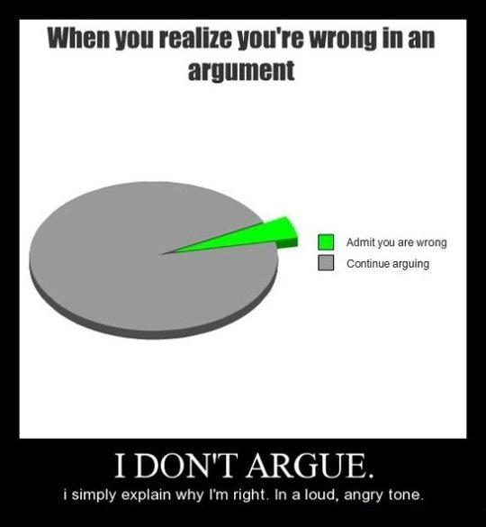 I Don't Argue…