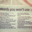 Words You Won't Use