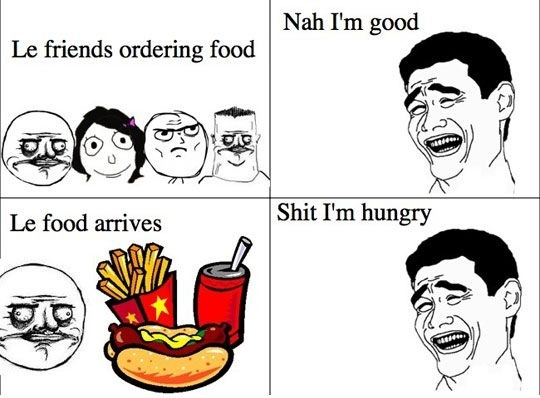 Friend Ordering Food