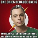 SHeldon Coopers Reason To Cry