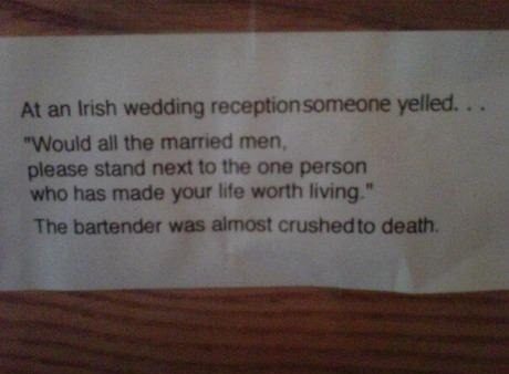 At an Irish Wedding…