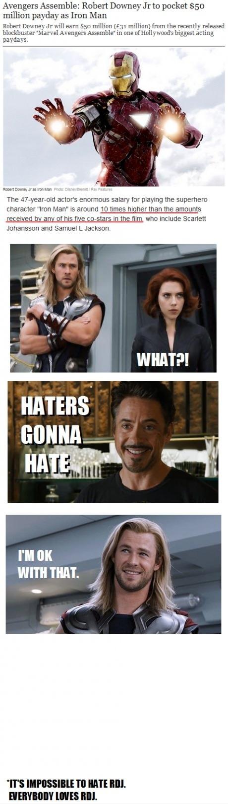 Everybody Loves Robert Downey Jr.