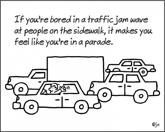 Getting Bored In Traffic?