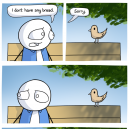 Little Bird Want Some Bread