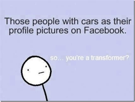 Car as Facebook Profile Picture