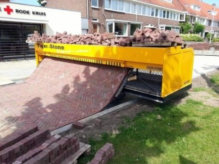 A brick laying machine. Neat!