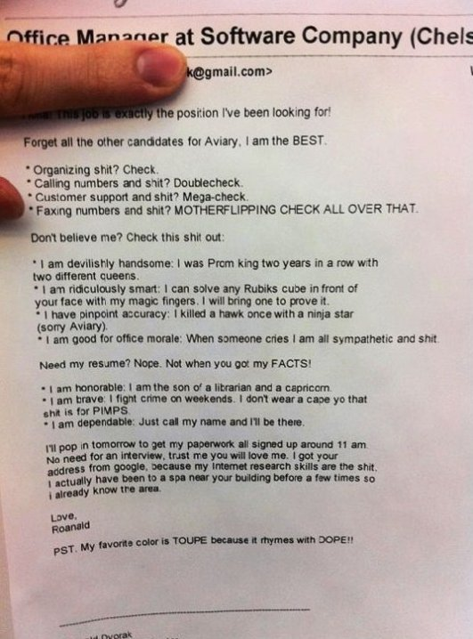 Epic Job Application