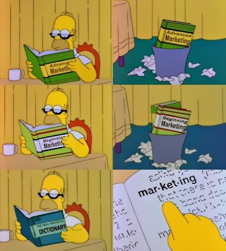 Homer is Learning Marketing