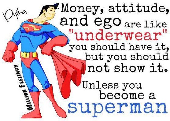 Money, Attitude and Ego