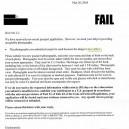 Passport Rejection Fail