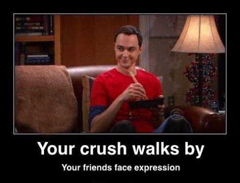 Your Crush Walks By
