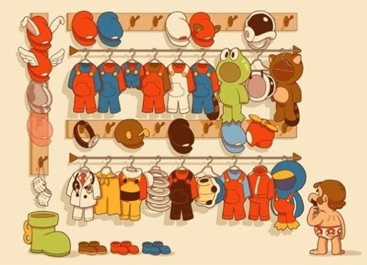 Super Marios Wardrobe