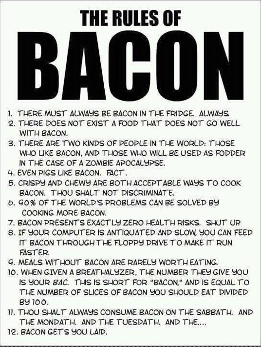 The Rules of Bacon