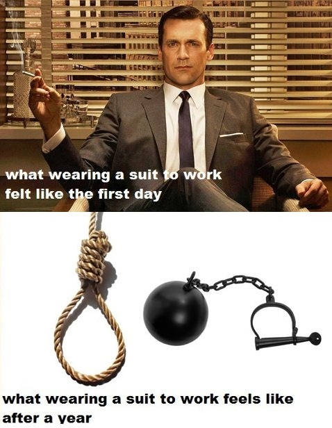 Wearing a Suit to Work