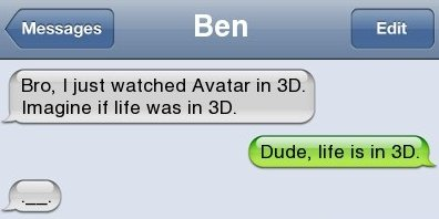 3D Text Message
