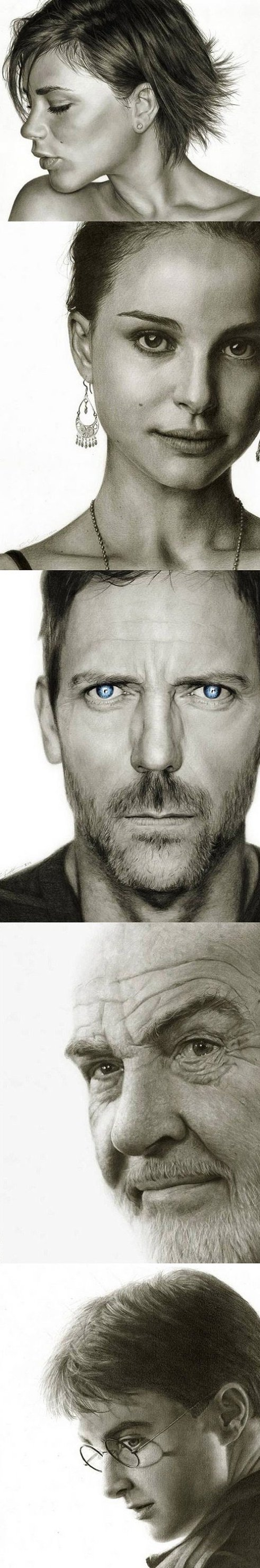 Amazing hand drawings of celebrities – Made using a pencil
