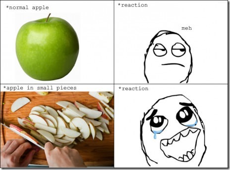 Apples – Different Reactions
