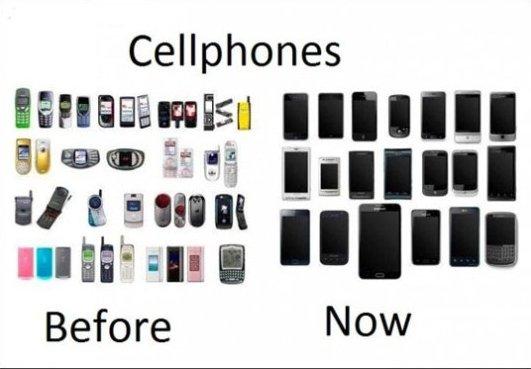 Cellphones – Before vs. Now