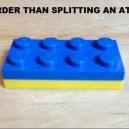 Even harder than splitting up an atom