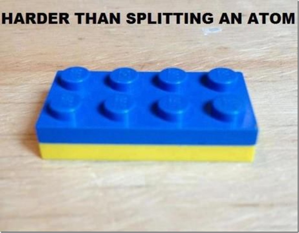 Even harder than splitting up an atom