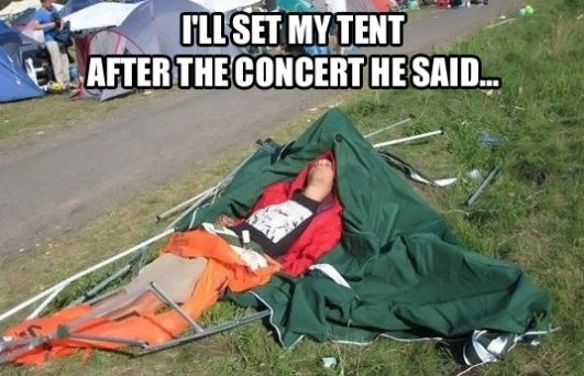 Camp After a Concert