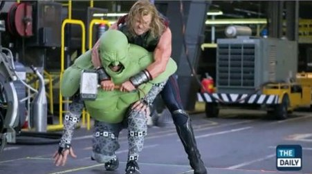 How The Hulks fight scenes were filmed in The Avengers