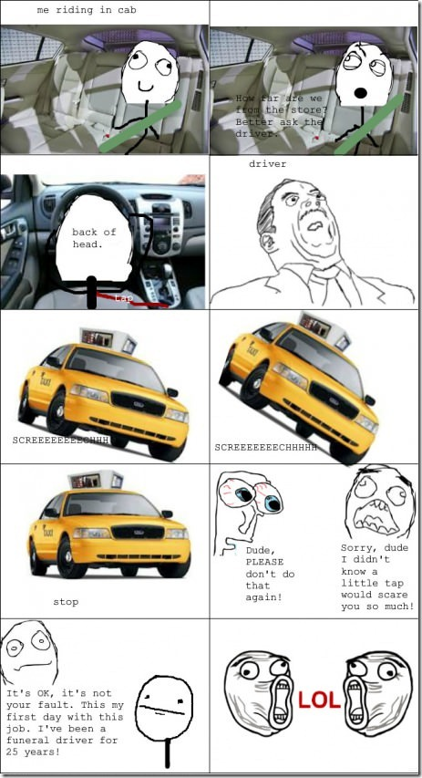 Le me riding in cab and this happens