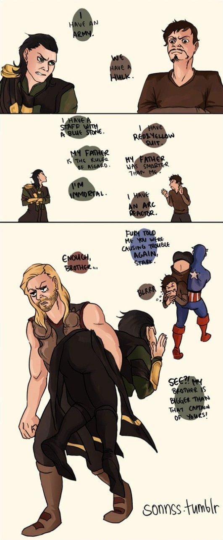 Loki vs. Tony Stark
