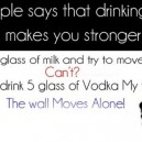 Milk vs. Vodka