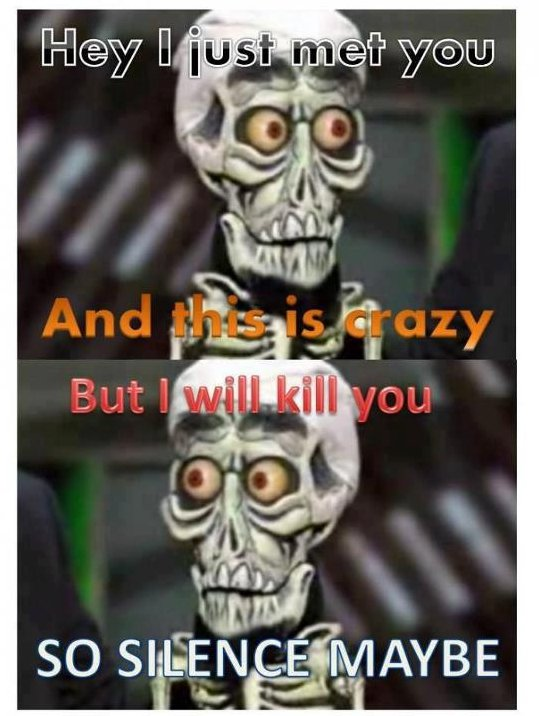 Silence i kill you for Achmed the dead terrorist halloween decoration