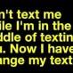 Texting Dilemma