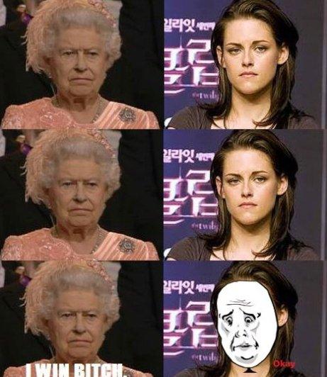 The Queen vs. Kristen Stewart
