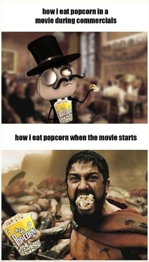 Eating Popcorn at the Movies